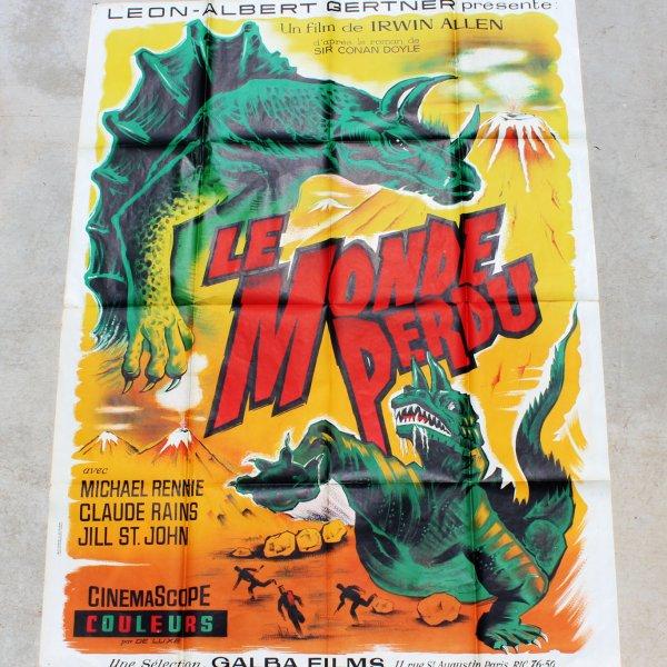 1960 The Lost World - Le Monde Perdu Movie Film Poster