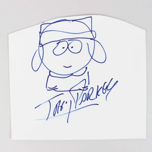 Trey Parker Signed South Park Sketch of Kyle