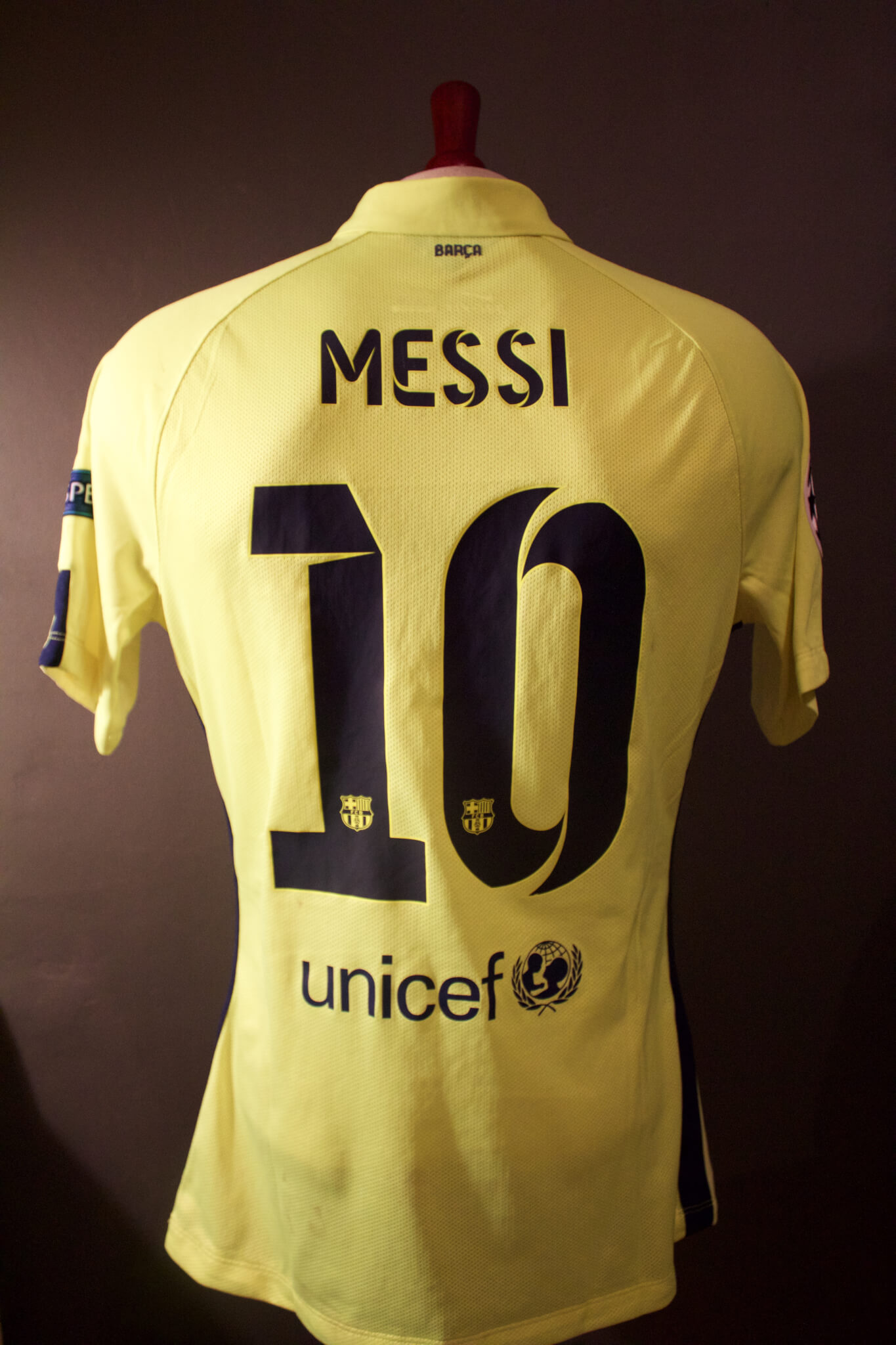 new arrival 5900e 85a89 A Lionel Messi Game-Used #10 FC Barcelona Away Shirt. 2014/15 UEFA  Champions League.