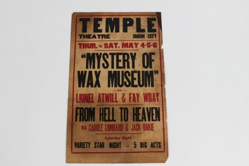 Rare 1933 Mystery of Wax Museum Movie Window Lobby Card