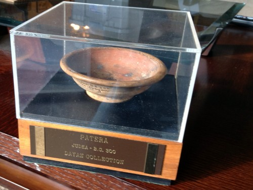 Ancient 300 BC Patera Bowl from  Israel - Judicia, Marked & Signed Moshe Dayan Collection