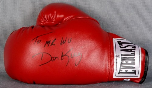 "Don King Signed & Inscribed Everlast Glove ""To Mr.Wu"" -  COA GAI"