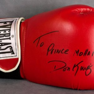 "Don King Signed Everlast Boxing Glove ""To Prince Mohammah"""