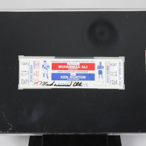 1976 Muhammad Ali vs Ken Norton Signed Ringside Ticket