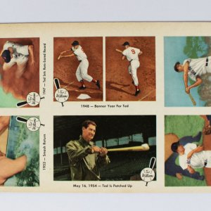 Boston Red Sox Ted Williams Uncut Promo Sheet
