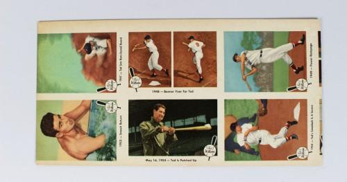 1959 Fleer Boston Red Sox - Ted Williams Uncut (6) Card Sheet