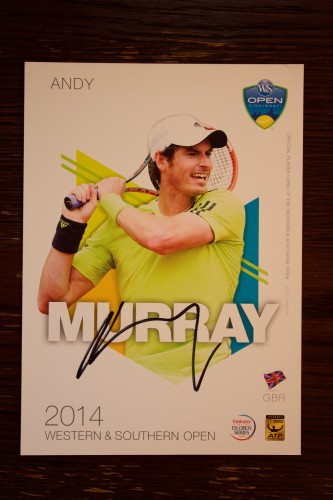 An Andy Murray Signed 2014 ATP Western & Southern Open Official Tournament Postcard.