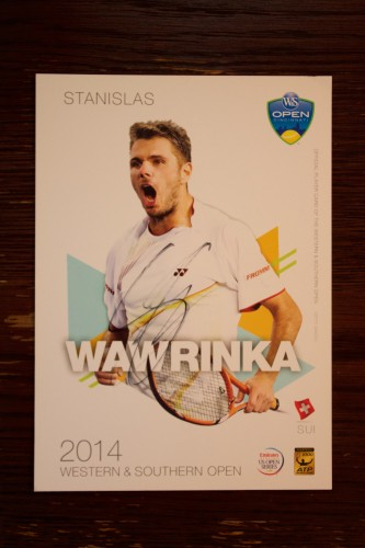 A Stan Wawrinka Signed 2014 ATP Western & Southern Open Official Tournament Postcard.