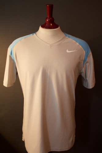 A Roger Federer Game-Issued Custom Nike Tennis Shirt.  2010/11 ATP Season.