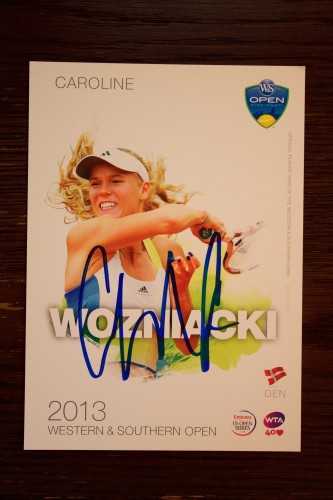 A Caroline Wozniacki Signed WTA 2013 Western & Southern Open Official Tournament Promo Card.