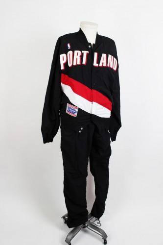 91-92 Trail Blazers-Danny Ainge Game-Worn Warm Up Jacket & Pants- COA