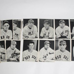 1940 Boston Red Sox Team Portrait Photos Lot of 25 in Picture Pack