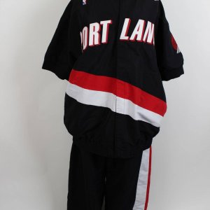 1997-98 Portland Trail Blazers - Arvydas Sabonis Game-Worn Warm-Up Shooting Jacket & Pants