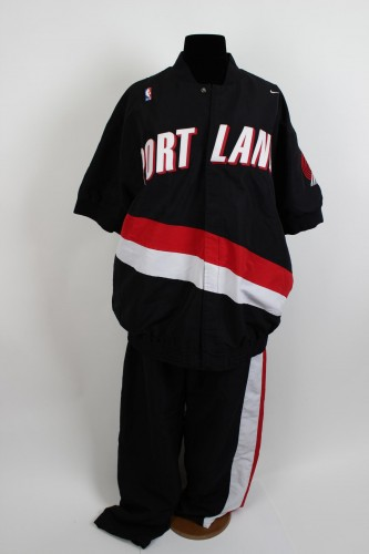 1997-98 Portland Trail Blazers - Arvydas Sabonis Game-Worn Warm-Up Shooting Jacket & Pants