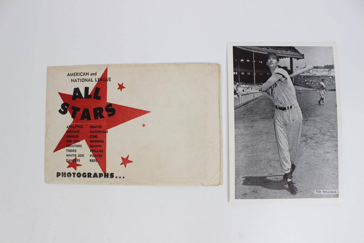 """1957 All-Star Photo Pack - Red Sox - Ted Williams 6""""x 8.5"""" Photo (w/Envelope)"""