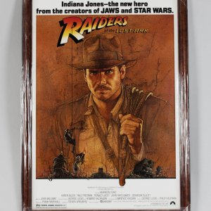 Indiana Jones - Raiders of the Lost Ark - Harrison Ford Signed 28x40 Movie Poster Display (JSA Full LOA)