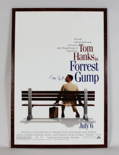 "Forrest Gump - Tom Hanks Signed 28.5 x 42"" Movie Poster- JSA Full LOA"