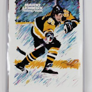 Pittsburgh Penguins Mario Lemieux Signed 23x33 Poster