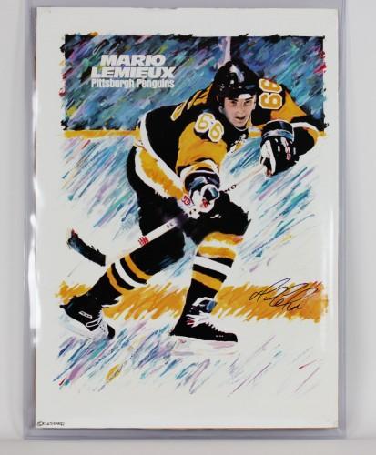 Pittsburgh Penguins Mario Lemieux Signed 23x33 Poster