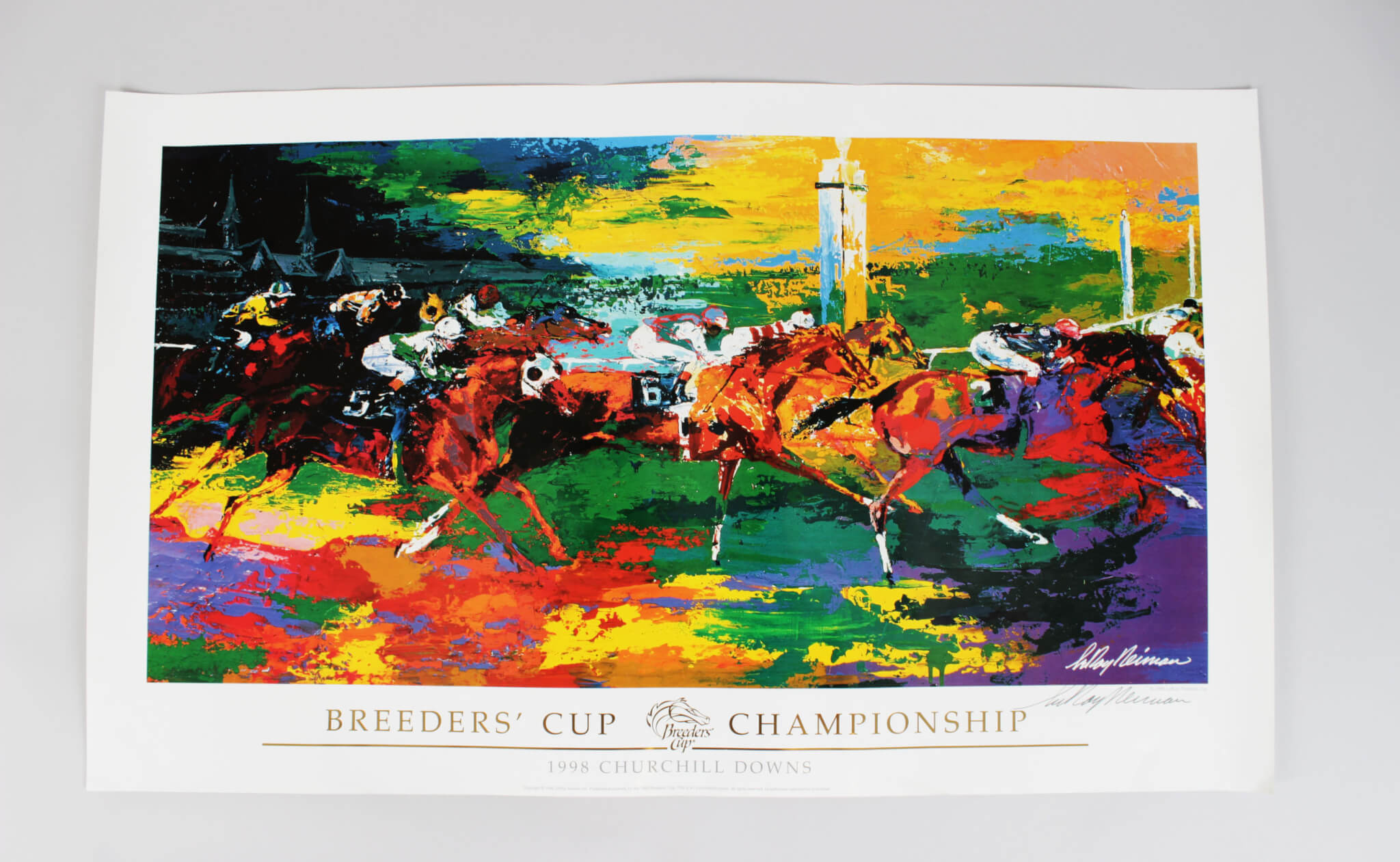 1998 Churchhill Downs Breeders' Cup Championship Signed LeRoy Neiman Poster (JSA)