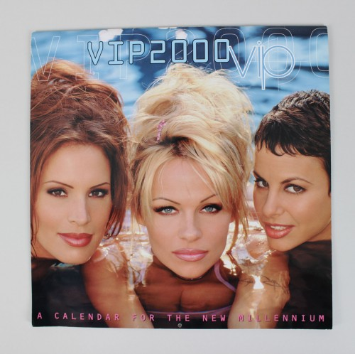 Pamela Anderson Signed VIP 2000 Calendar- 4 Other Cast Members - JSA