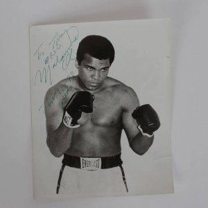 """To Tony From Muhammad Ali Jan 11- 78"" Peace Signed Vintage Signature 8x10 Photo From Ring Magazine Writers Collection"