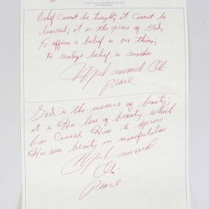 Muhammad Ali Hand Written Poems From Zurich