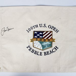 Jack Nicklaus Signed 100th U.S. Open Pebble Beach Flag