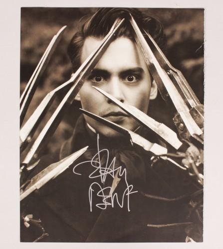 Edward Scissorhands - Johnny Depp Signed 12x15 Photo