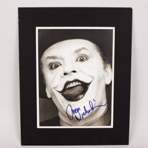 "Jack Nicholson as ""The Joker"" Signed 11x15 Photo"