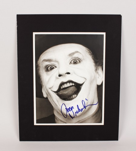 "Batman - Jack Nicholson as ""The Joker"" Signed 11x15 Photo Display"