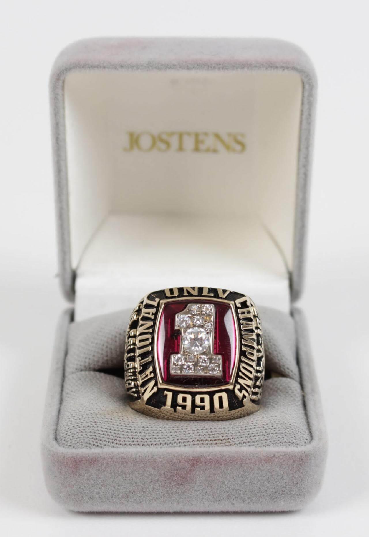 1990 UNLV National Championship Ring -Jostens Original Box-Original from Team Doctor