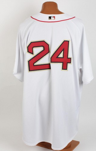 2005 Opening Day Boston Red Sox - Manny Ramirez Game-Issued Home Jersey (feat. Gold Trimmed Identifiers & World Series Victory Patch)