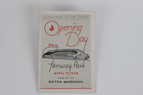 April 17, 1934 Boston Red Sox Fenway Park Opening Day Program (Green Monster Debut)