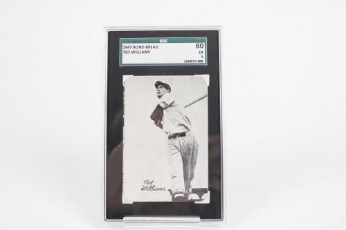 Rare 1947 Bond Bread - Ted Williams Baseball Card - SGC Graded 60 EX 5