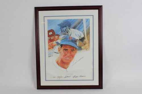 Red Sox - Ted Williams Signed 23x30 Decathlon Sports Original Lithograph - JSA