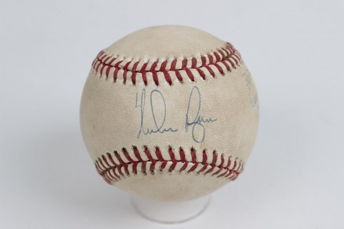 "Texas Rangers - Nolan Ryan Signed & Inscribed ""300th Win Game Ball 7/31/96"" Game-Used Baseball"