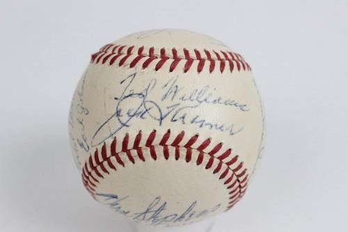 1948 Boston Red sox Team Signed OAL( Harridge) Baseball Club house ted williams