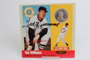 Red Sox- Ted Williams Signed Commemorative Pure Silver Coin - COA