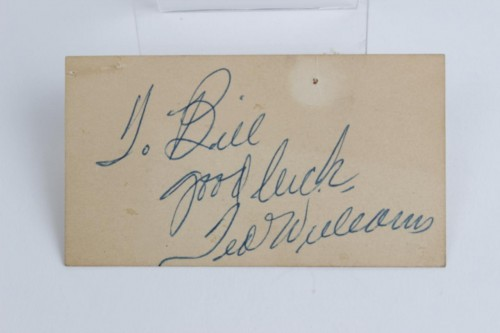 Boston Red Sox - Ted Williams Signed Business Card - PSA Full LOA
