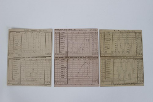 (3) Vintage 1878-79-1881 Boston Red Caps Baseball Scorecards with Cap Anson and Mike Kelly