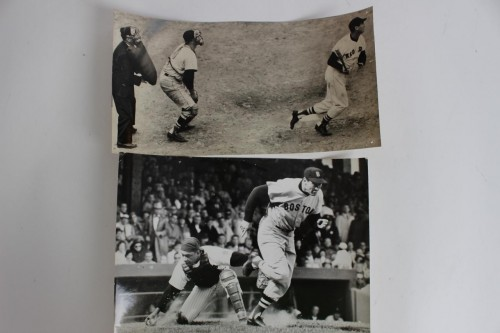 Red Sox - Ted Williams -Vintage Photograph (9x11) & Wire Photo (6 x10.5)
