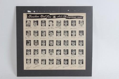 1946 Boston Red Sox A.L. Champions Commemorative Poster w/ Facsimile