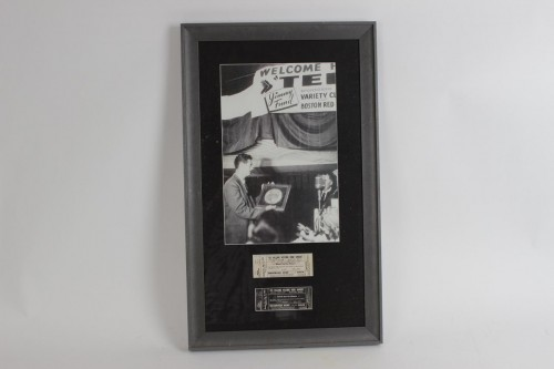 Boston Red Sox Ted Williams Signed Welcome Home Banquet Dinner Tickets Aug. 17, 1953 (2) w/Original Photograph