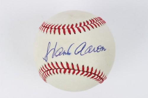 Atlanta Braves- Hank Aaron Signed Baseball - JSA Full LOA