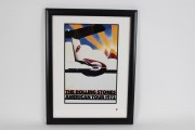 1972 Rolling Stones American Tour Lithograph Poster 20x27 Display