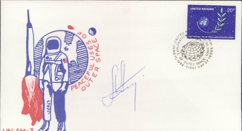 Aleksander Aleksandrov Soviet Cosmonaut First Day Cover (FDC) hand signed in person autograph
