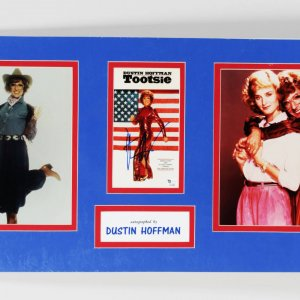 "Dustin Hoffman Signed 5x8 ""Tootsie"" Movie Promo Photo in Display"