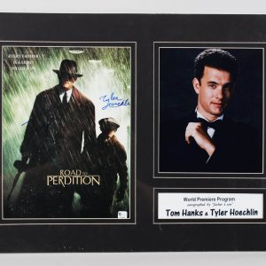 "Tom Hanks & Tyler Hoechlin Signed 9x12 ""Road to Perdition"" Movie Promo Photo"