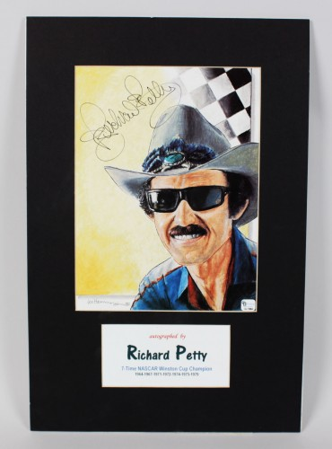 7-Time NASCAR Winston Cup Champion Richard Petty Signed Print- COA GAI